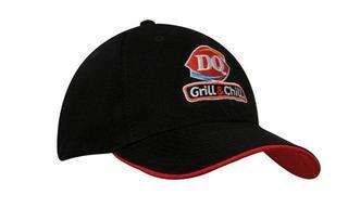 Promotional Product Recycled PET Cap with contrast under peak