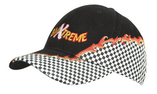 Promotional Product Brushed Heavy Cotton Cap with Rift Embroidery and Checks