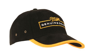 Promotional Product Brushed Heavy  Cotton Cap with Peak and Arch Trim