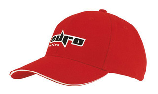 Promotional Product Brushed Heavy  Cotton Cap with Sandwich Trim