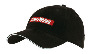 Promotional Product Brushed Heavy  Cotton Cap with Reflective Sandwich and Strap