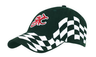 Promotional Product Brushed Heavy  Cotton Cap with Checks
