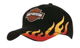 Promotional Product Brushed Heavy Cotton Cap with Flame Embroidery