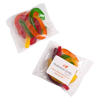 Promotional Product 50gm Snakes in cello bag