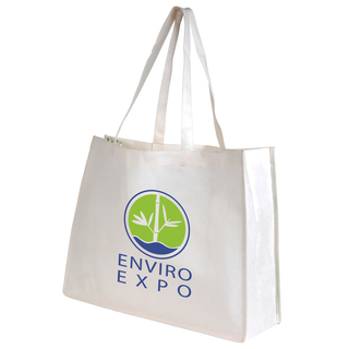 Promotional Product Giant Bamboo Carry Bag With Double Handles - 100 Gsm