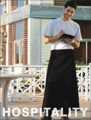 Promotional Product Polyester Drill Continental Apron with pocket