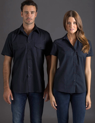Promotional Product Ladies Short Sleeve Ultra Cool Shirt with Twin Pockets