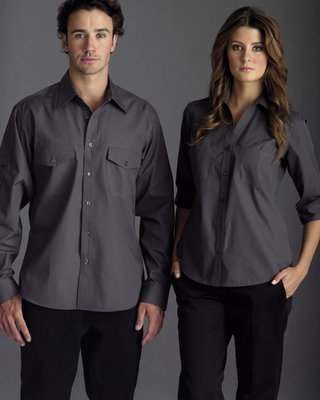 Promotional Product Mens Long Sleeve Ultra Cool Shirt with Twin Pockets & Sleeve Pocket