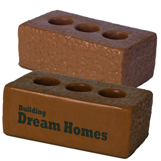 Promotional Product Anti Stress Brown House Brick