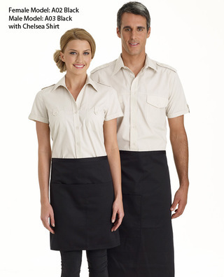 Promotional Product 3/4 Plain Bistro Apron with Pocket