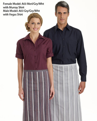 Promotional Product 3/4 Stripe Bistro Apron with Pocket