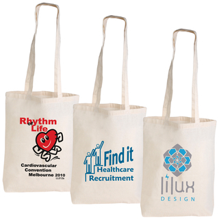 Promotional Product CALICO DOUBLE LONG HANDLE CONFERENCE BAG - 140 GSM