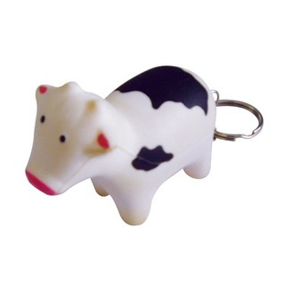 Promotional Product Anti Stress Cow Keyring