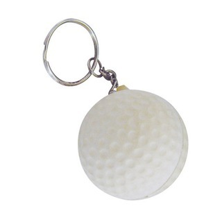 Promotional Product Anti Stress Golf Ball Keyring