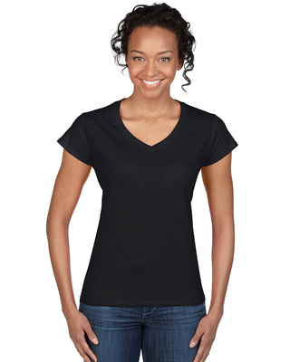 Promotional Product Fitted Ladies' V-Neck T-Shirt