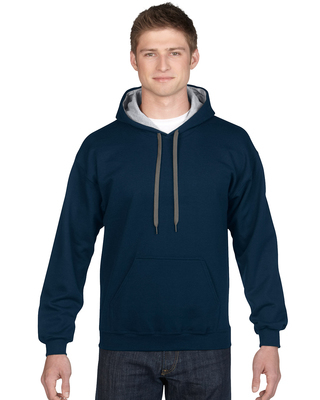 Promotional Product  Classic Fit Adult Contrast Hooded Sweatshirt
