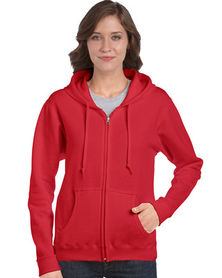 Promotional Product  Semi-fitted Ladies' Full Zip Hooded Sweatshirt