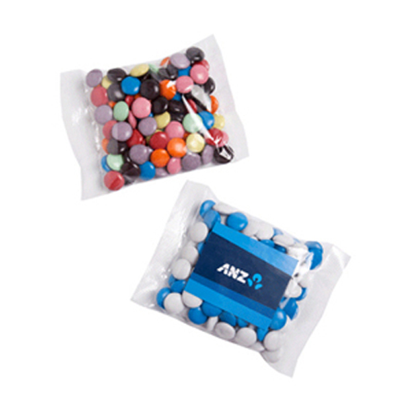 Promotional Product 100gm Choc Beans in cello bag