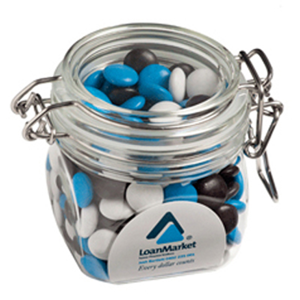 Promotional Product Choc Beans (Smartie Look Alike) in Canister 200G