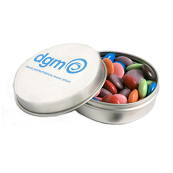 Promotional Product Candle Tin Filled with Choc Beans 50G