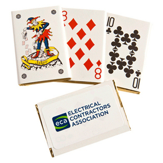 Promotional Product Chocolate Playing Cards Bulk