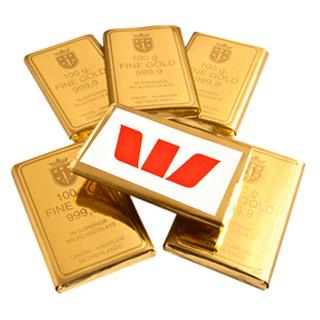 Promotional Product Chocolate Gold Bullion Bulk