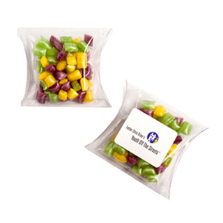 Promotional Product 50g Corporate Coloured Humbugs in Pillow Pack