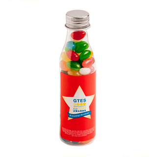 Promotional Product 100gm Jelly Beans in Soda Bottle  (Corp Coloured or Mixed Coloured Jelly Beans)