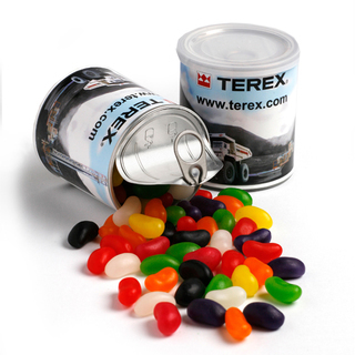 Promotional Product 200gm Jelly Beans in Pull Can  (Mixed Colours or Corporate Colours)