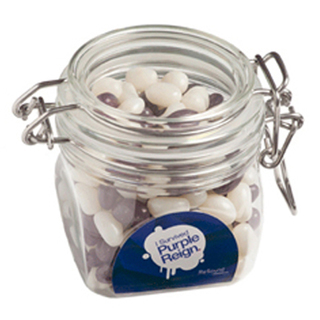 Promotional Product 200gm Jelly Beans in Canister  (Corp Coloured or Mixed Coloured Jelly Beans)
