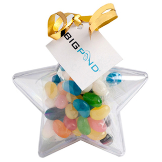 Promotional Product 50gm Acrylic Stars Filled with Jelly Beans