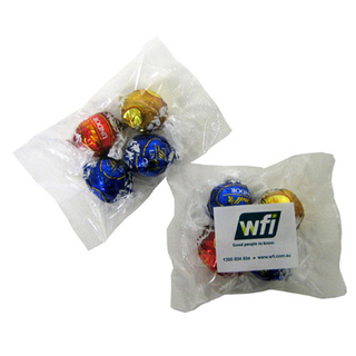 Promotional Product Lindor Balls in Cello Bag X4