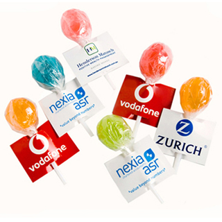 Promotional Product Ball Lollipop with Tag