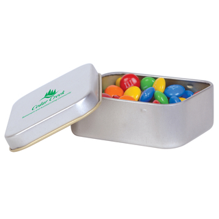 Promotional Product M&M's In Silver Tin