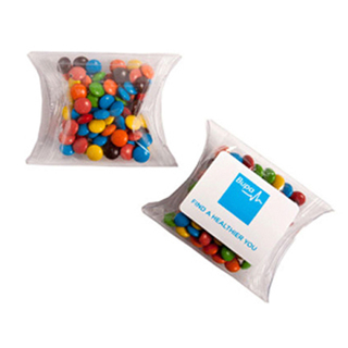 Promotional Product Mini M&Ms in PVC Pillow Pack 25G (Mixed Colours Only)