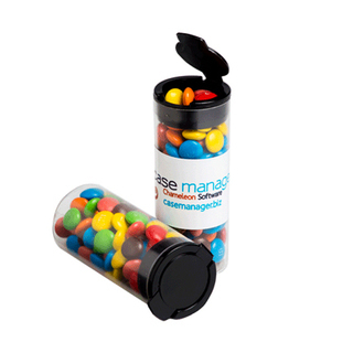 Promotional Product Flip Lid Tube Filled with M&Ms 35G