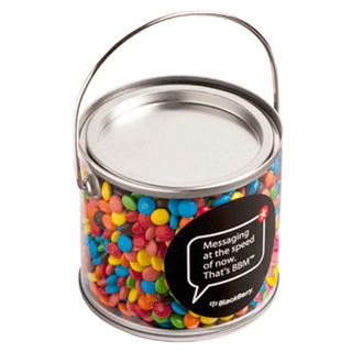Promotional Product Medium PVC Bucket Filled with M&Ms 400G