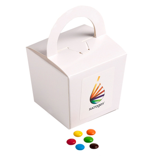Promotional Product Coloured Noodle Box Filled with M&Ms 100G