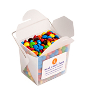 Promotional Product Frosted PP Noodle Box Filled with M&Ms 100G