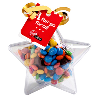 Promotional Product Acrylic Stars Filled with M&Ms 50G