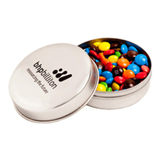 Promotional Product Candle Tin Filled with M&Ms 50G