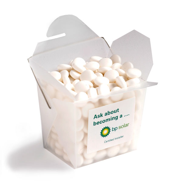 Promotional Product Frosted PP Noodle Box Filled with Mints 100G