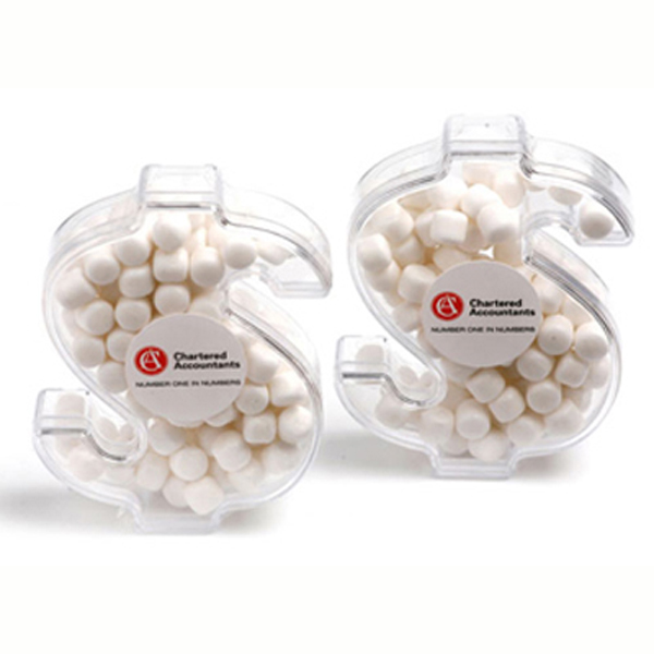 Promotional Product Acrylic Dollar Filled with Mints 40G