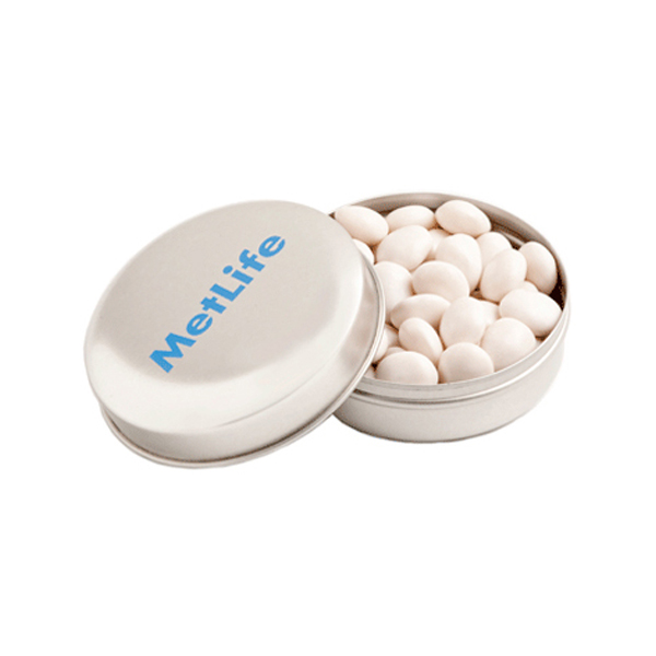Promotional Product Candle Tin Filled with Mints or Musks 50G