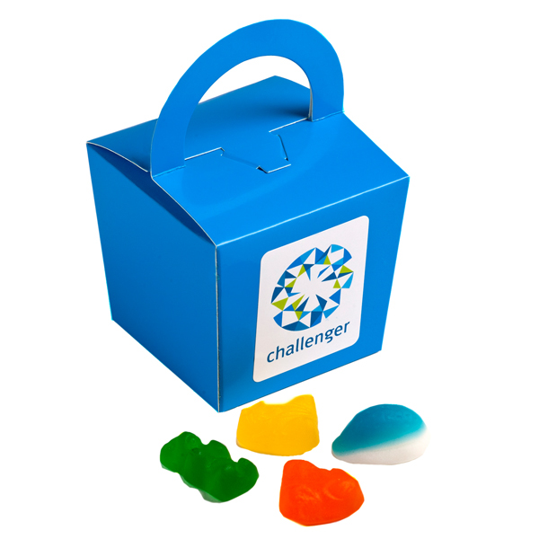 Promotional Product Coloured Noodle Box Filled with Mixed Lolllies 100G