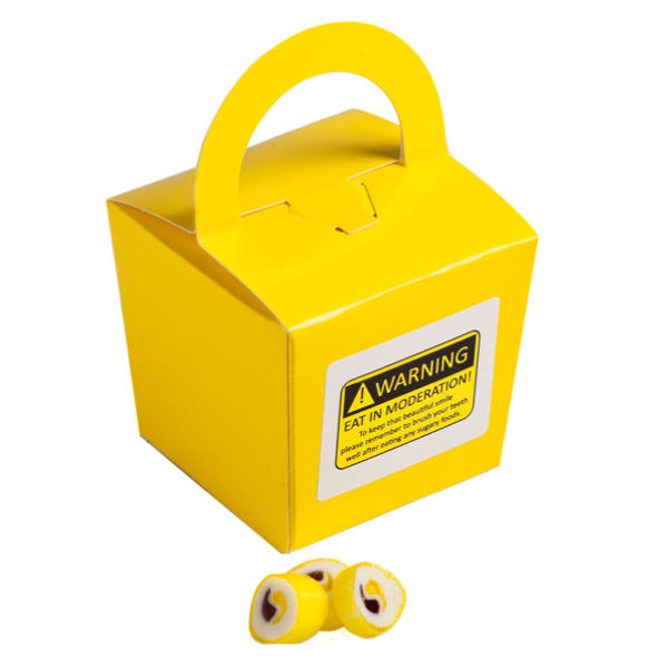 Promotional Product Coloured Noodle Box Filled with Personalised Rock Candy 100G