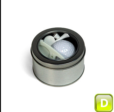 Promotional Product One Ball Golf Accessories Tin D
