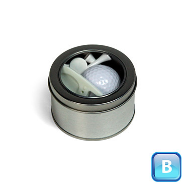 Promotional Product One Ball Golf Accessories Tin B