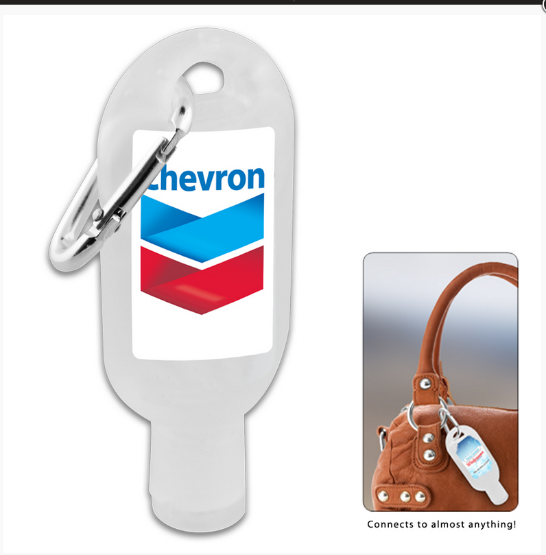Promotional Product 30ml Hand Sanitiser Gel w/ Carabiner