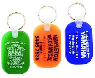 Promotional Product Durasoft Keytags - Oblong shape (Translucent  colours)